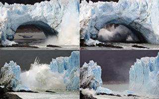 阿根廷冰川拱门坍塌 震撼奇景数年一见