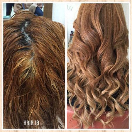美髮設計前后對比。(圖:Hair Club IB美發沙龍提供)