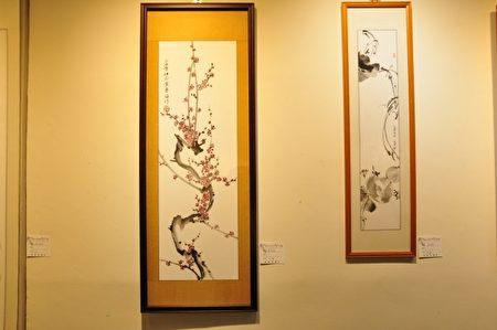 詹德秀所画,展出的水墨画作品之一。(赖月贵/大纪元)