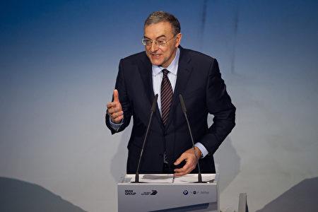 宝马首席执行官Harald Krüger在百年庆典上 (Lennart Preiss/Getty Images)