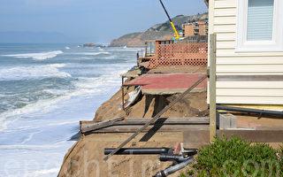 海岸侵蚀 千万美元公寓被消失