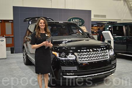 2016年3月9日-13日,卡尔加里国际汽车展在BMO中心举办。图为Range Rover。(黄钟乐/大纪元)