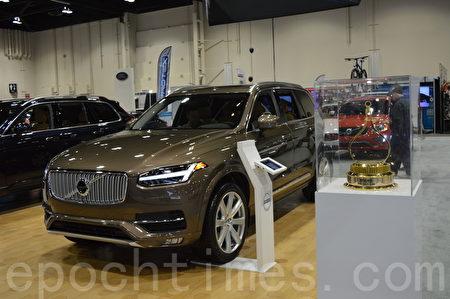 2016年3月9日-13日,卡尔加里国际汽车展在BMO中心举办。图为Volvo XC90。(黄钟乐/大纪元)
