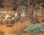 在琅琊山的幽谷中,欧阳修修建了醒心、醉翁二亭。明代仇英《醉翁亭》(公共领域)