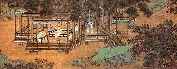 """欧阳修自号""""醉翁"""",北宋庆历六年被贬为滁州太守时,写下传世之作《醉翁亭记》,醉翁亭之名由此而得。图为明仇英《醉翁亭》。(公有领域)"""