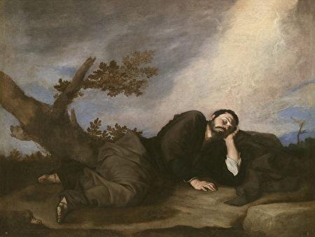 西班牙画家何塞‧里贝拉(José de Ribera)的《雅各之梦》(Jacob's Dream),1639年作。(公共领域)