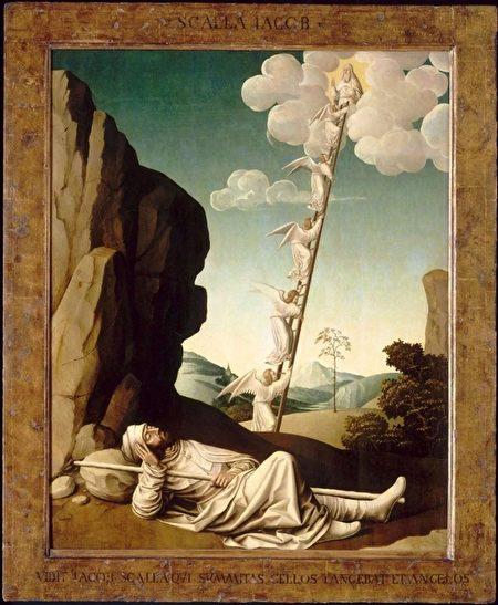 法国画家尼古拉‧迪佩(Nicolas Dipre,1495—1531)绘制的《雅各之梦》(Jacob's Dream)。(公共领域)