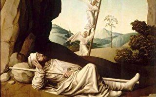 法国画家尼古拉‧迪佩(Nicolas Dipre,1495—1531)绘制的《雅各之梦》(Jacob's Dream)局部。(公共领域)