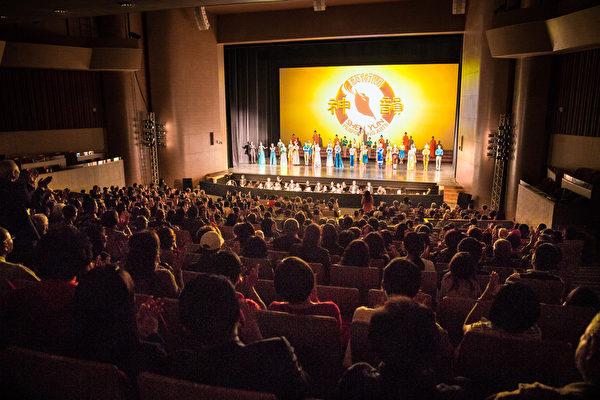 美国神韵艺术团3月17日下午于新北市首场演出。(陈柏州/大纪元)