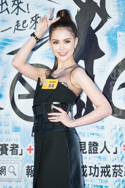 藝人昆凌3月22日在台北出席公益活動號召戒菸。(陳柏州/大紀元)
