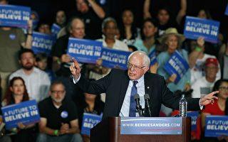 3月15日,美国民主党参选人桑德斯在亚利桑那州凤凰城的竞选集会上发表讲话。(Photo by Ralph Freso/Getty Images)