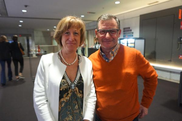 Jan先生和Carmen女士一起来观看了神韵国际艺术团2016年3月22日在比利时布鲁日艺术中心的首场演出。(章乐/大纪元)
