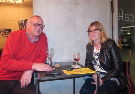 3月23日晚,Paul Daleman和Gerda Welttaesaela观看了布鲁日的神韵演出。 (麦蕾/大纪元)