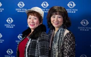 美商多特瑞台灣創辦人吳晶淳(右)和姐姐吳麗鳳。(羅瑞勳/大紀元)