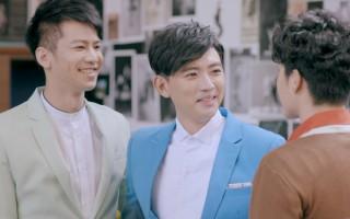 邹承恩(左)及曾少宗在《舞吧舞吧在一起》剧中为团体的成员。(三立提供)
