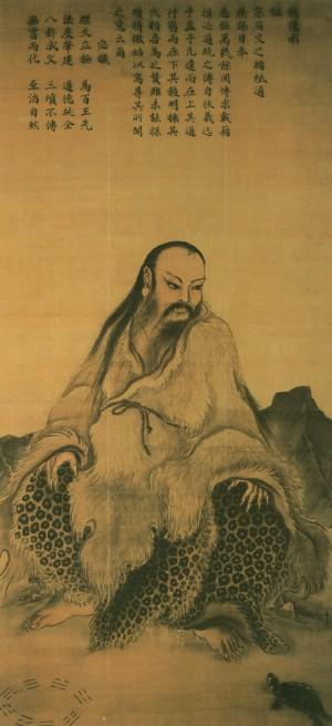 南宋畫家馬麟所畫的伏羲坐像,現藏台北國立故宮博物院。(公有領域)