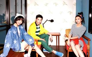 蔡黄汝(右起)、张立昂、邵雨薇三人登上《爱玩客》杂志封面人物。(三立提供)