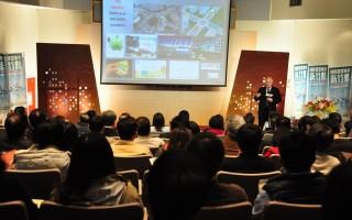 ICF主席兼聯合創辦人John G. Jung專題演講。(賴月貴/大紀元)