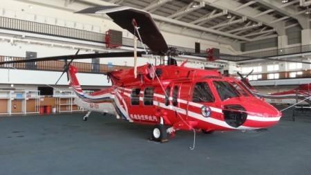 UH-60M黑鹰直升机亮相。(内政部/提供)