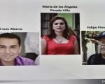 墨西哥内政部副部长于2016年3月30日表示,来自美洲人权委员会的国际专家调查团,将于4月底结束对43名学生被绑架失踪案的调查。本图为涉案被捕的前伊瓜拉市长阿瓦尔卡(Jose Luis Abarca,左一)和他的妻子潘妮达。(YURI CORTEZ/AFP/Getty Images)