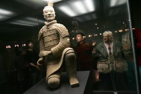 秦始皇兵馬俑每一個都不一樣,唯妙唯肖。(China Photos/Getty Images)