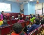 下城醫院12日在中華公所舉辦「放射性治療」講座。(蔡溶/大紀元)