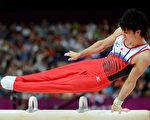心智模型的技巧常被运动员用于赛前准备。图为日本体操选手内村航平在鞍马项目的比赛。  (Photo by Harry How/Getty Images)