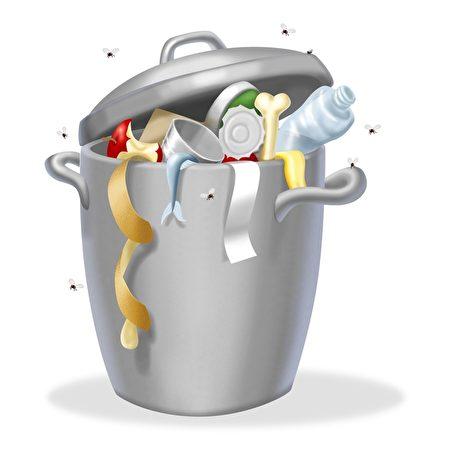家中垃圾往往是居家异味的最大原凶。(fotolia)