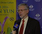 多倫多瑞爾森大學榮譽退休教授Tim Sly:「我們都應該加入到這種更豐富的、具有普世價值的和諧的生活中來。」(新唐人電視台提供)