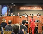 库市理性发展公投的市民发言呼吁市议会批准将CCSGI放入11月选票中。(章德维/大纪元)