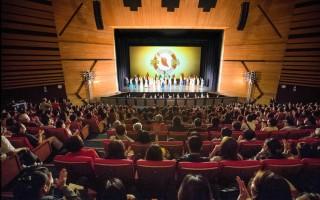 神韻世界藝術團,2016年4月6日晚間在台中中山堂舉行台中首場演出,再度締造一票難求的爆滿盛況。(白川/大紀元)