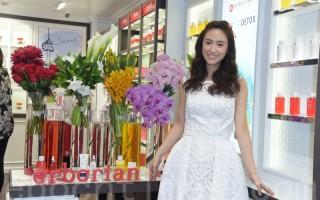 吳姍儒於2016年4月7日在台北出席Erborian艾博妍 品牌上市記者會。(黃宗茂/大紀元)