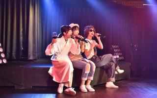 永尾瑪莉亞、近野莉菜、片山陽加在台灣上演「模仿秀」,模仿的正是日本天團「SMAP」。(又水整合設計提供)