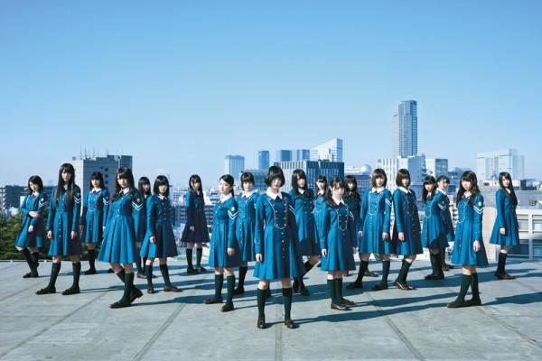乃木坂46的師妹團──欅坂46宣傳照,於4月6日以首張單曲《沉默的多數》正式出道。(Sony提供)
