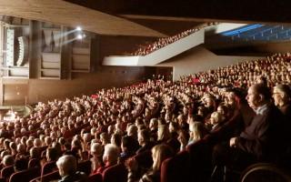 2016年4月13日下午,神韵在丹麦奥胡斯的第二场演出再次爆满。(文华/大纪元)