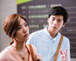 《滾石愛情故事》「我是真的付出我的愛」單元,郭雪芙搭擋李國毅飾演因誤會而分手的初戀情人。(公視提供)