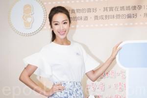 艺人隋棠4月29日在台北出席园游会记者会。(陈柏州/大纪元)