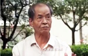 作家陈忠实在谈小说《白鹿原》。(视频截图)