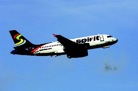 精灵航空公司飞机。(Spirit航空公司提供)