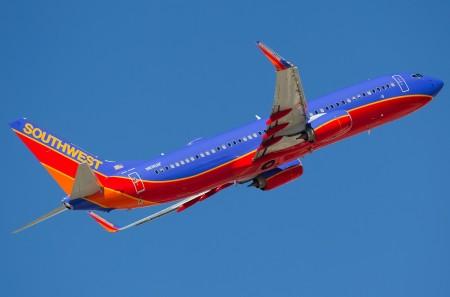 美国西南航空的波音(Boeing)737-800飞机。(Southwest Airlines)