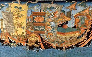 徐福渡海帆船的浮世绘(公有领域)