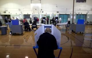 位於紐約市的一處投票點。 (Allison Joyce/Getty Images)