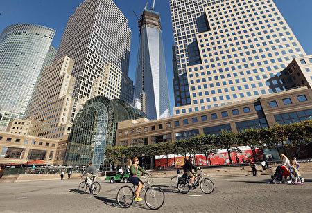 每年的5月是紐約市自行車月,隨著夏季的來臨﹐紐約市將成為適合騎自行車的好地方。 (Mario Tama/Getty Images)