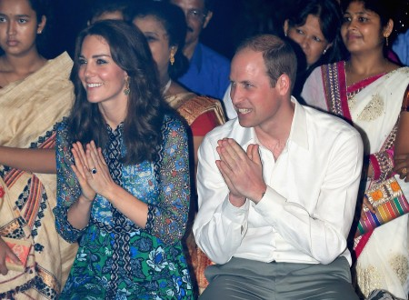 凱特、威廉在印度觀看表演。 (Chris Jackson/Getty Images)