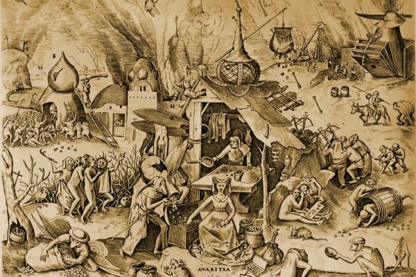 大卫•萨尔纳的《人类贪婪史》是本难得的好书。图为西方普遍认为的人类七宗罪之一的贪婪。(网络图片)