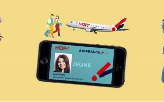 HOP!Air France-法航子公司推出青年優惠卡,該卡適用於年齡在12-24歲的年輕人,及法國國內的短程航線。(Airfrance網站截圖)
