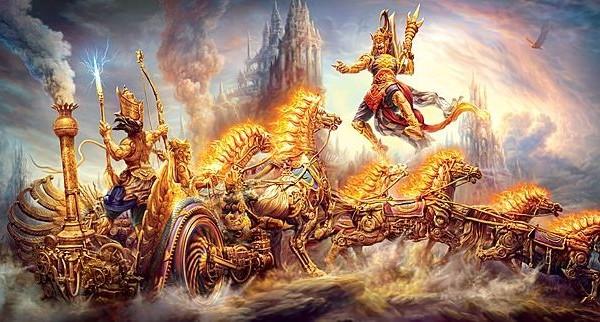 格查蓝.达斯的《做好人之难》,是一本有趣的、探索人类的困难和当代社会困境的好书。该书从印度 史诗《摩诃婆罗多》中吸取了诸多的智慧。图为印度史诗《摩诃婆罗多》中的战争插图。(网络图片)