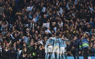 曼城主场1-0力克巴黎圣日耳曼,历史性闯进欧冠半决赛。 (PAUL ELLIS/AFP/Getty Images)