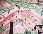 敦煌壁画中描绘的往返于丝绸之路上的商队。(公有领域)