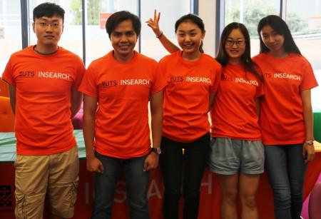 许多中国留学生参与The Biggest English Lesson活动。(UTS:INSEARCH)